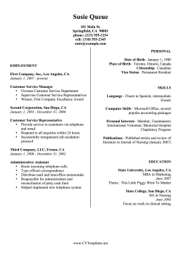 2 Column Resume 28 Images Free Resume Builder Resume Maker